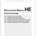 El nuevo documento Ahorro de Energía HE del Código Técnico