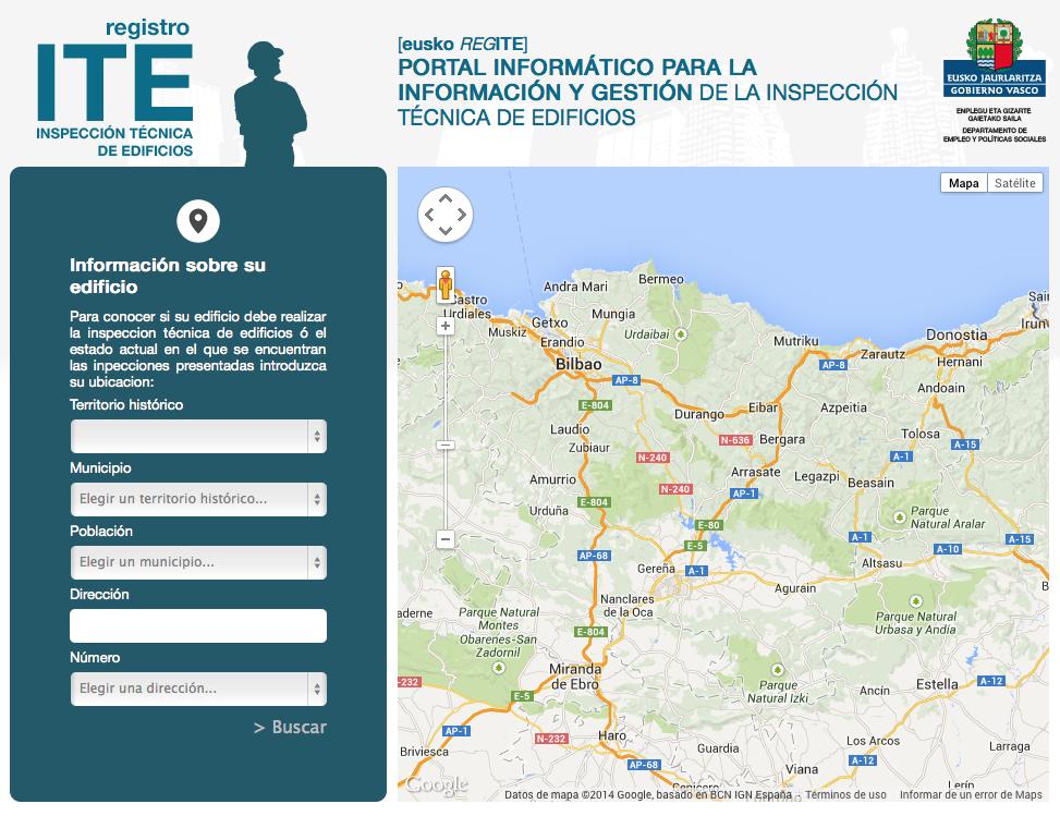 La plataforma euskoregite.com ofrecerá información sobre los edificios con ITE realizada o pendiente.