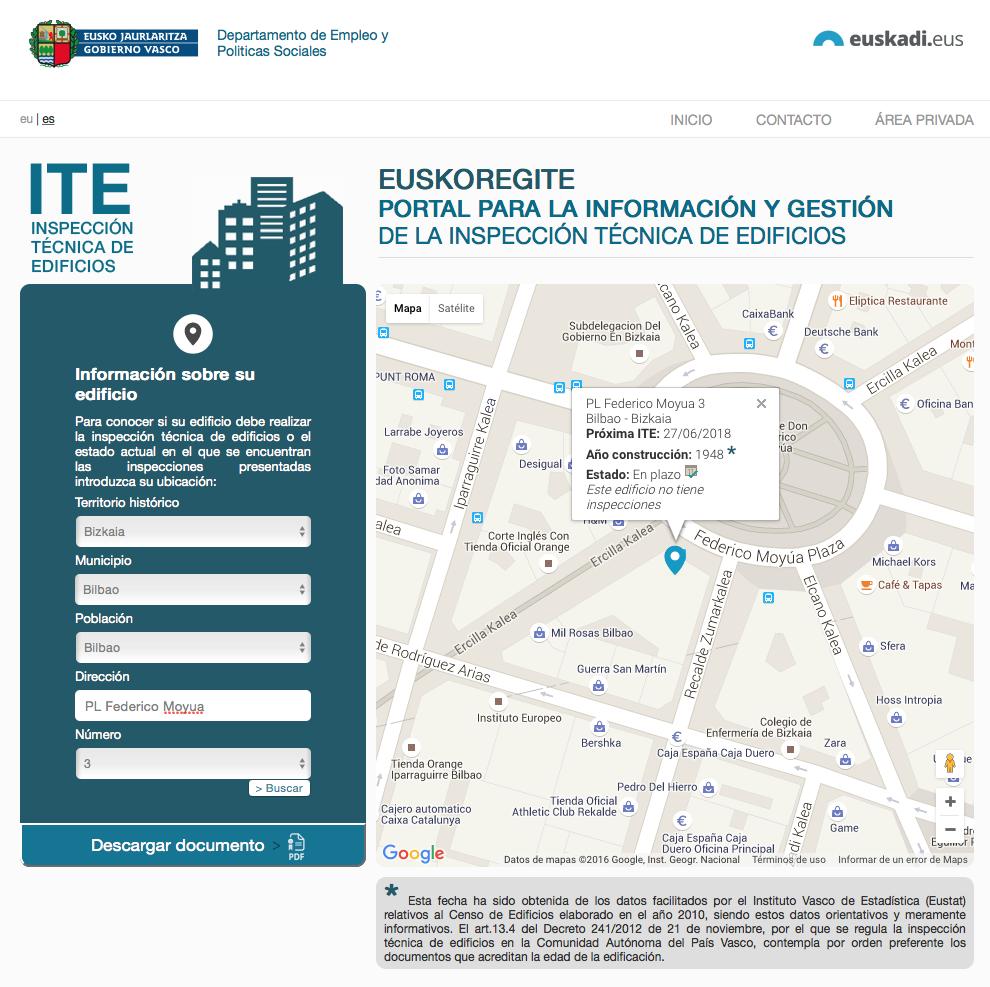 Inspección Técnica de Edificios en Euskadi